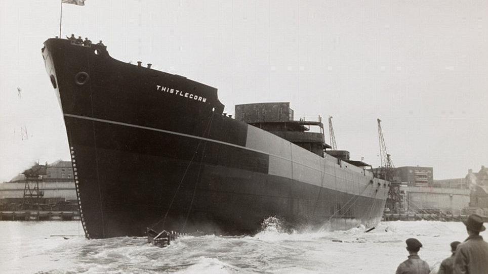 original view of wreck SS Thistlegorm before sunk